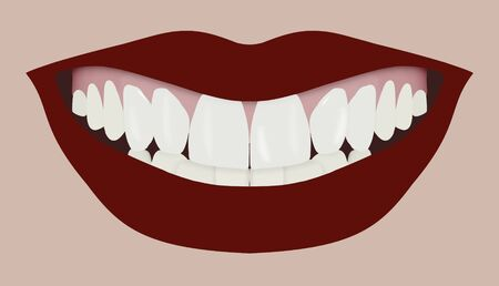 Illustration of a large mouth smiling Stock Illustration - 12084311