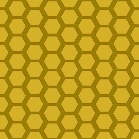 Illustration of a seamless honeycomb background