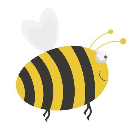 abeja reina: Ilustración de dibujos animados de una abeja grande Foto de archivo
