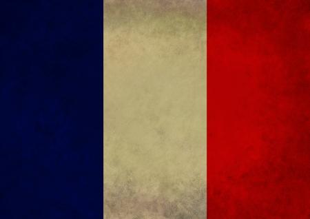 flag of france: Illustration of a grunge French flag