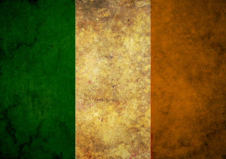 irish banners: Illustrated grunge flag of the country Ireland