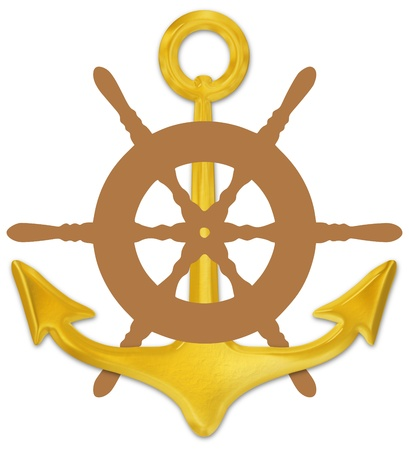 controls: Illustration of a ships anchor and wheel