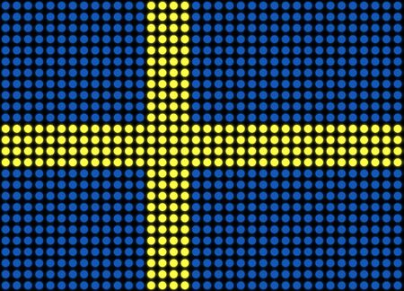 swedish: Illustration of an abstract dotted Swedish flag