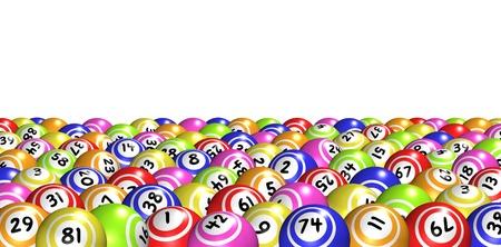 loteria: Bingo bolas Foto de archivo