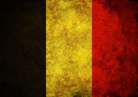 belgium: Illustration of a grunge Belgium flag