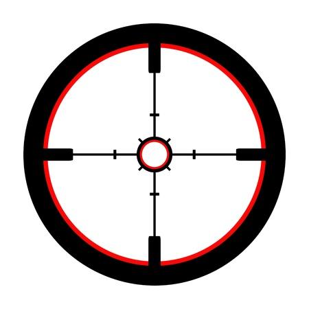 fusil de chasse: Isolé Illustration d'une Crosshair