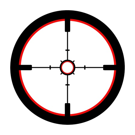 gun sight: Isolated Illustration of a Crosshair