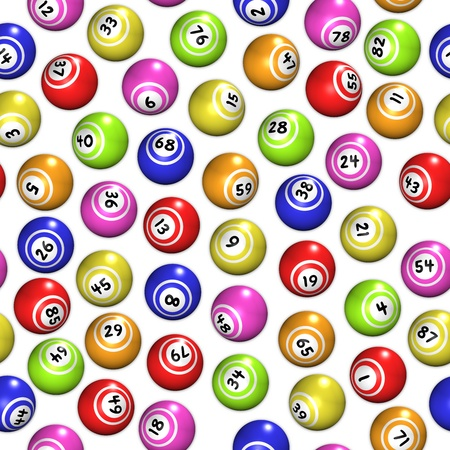 Seamless background made of bingo balls photo