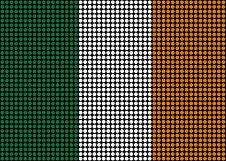 irish pride: Abstract flag of Ireland made of dots