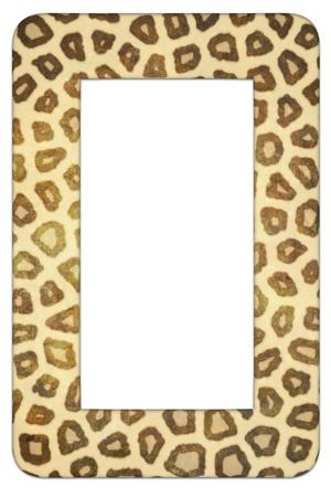 animal: Illustration of a frame made of Leopard skin