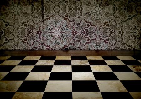 disrepair: Illustration of an old looking room