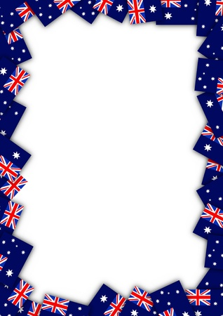 patriotic border: Illustrated Australian flag border Stock Photo