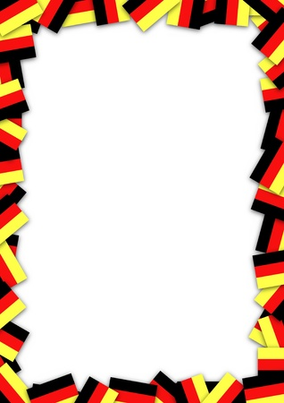illustrated: Illustrated frame made of German flags Stock Photo