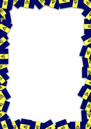 barbados: Illustrated frame made of Barbados flags