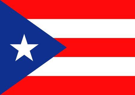bandera de puerto rico: Ilustración de la bandera de Puerto Rico