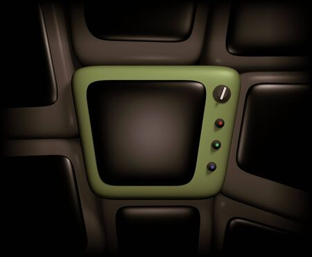telly: Illustration of a retro looking Television