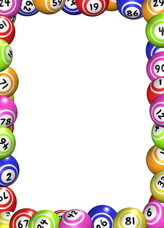Illustration of a frame made of bingo balls