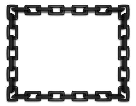 shackle: Illustration of a frame made of black chains
