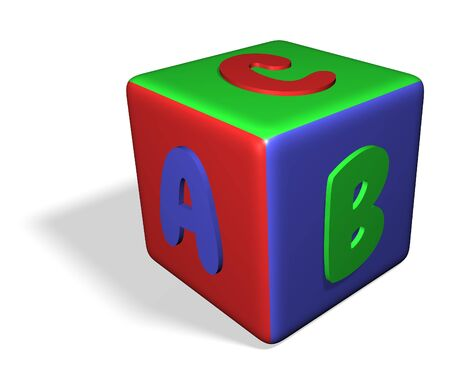 abc blocks: Isolated childrens toy block with letters