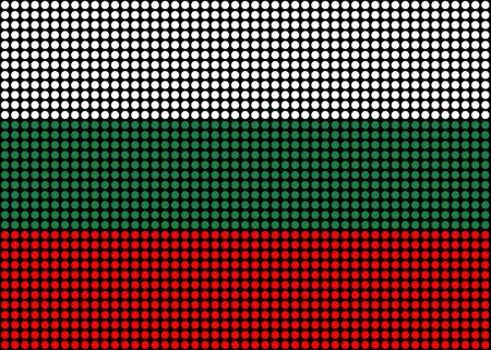 Illustration d'un drapeau de la Bulgarie a fait abstraction de points