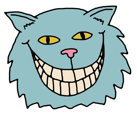 cheshire cat: Illustration of the Cheshire Cat, from Alice in Wonderland