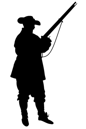 Illustrated silhouette of a Confederate Soldier photo