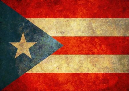 bandera de puerto rico: Ilustración de una gastada bandera de Puerto Rico Foto de archivo