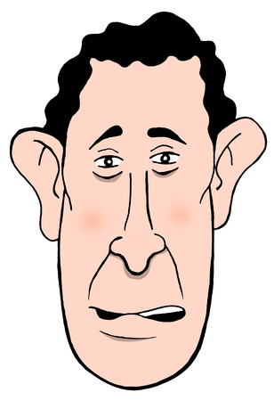 highness: Isolated cartoon head of Prince Charles