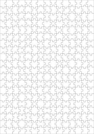 Illustration of a blank puzzle of 300 pieces illustration