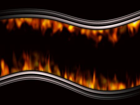 hades: Illustrated background with curves and flames