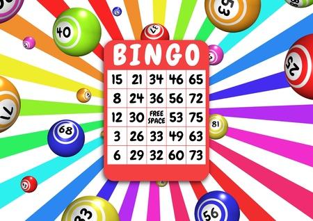 bingo: Illustration of bingo balls and card