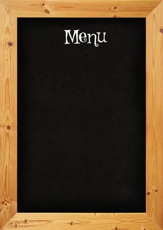 notice board: Illustrated blackboard restaurant menu