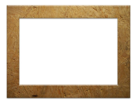 chipboard: Illustrated frame made of chipboard