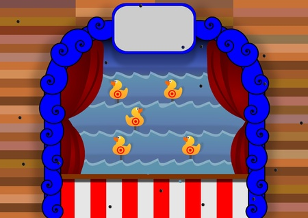 amuse: Illustration of a duck shoot carnival game