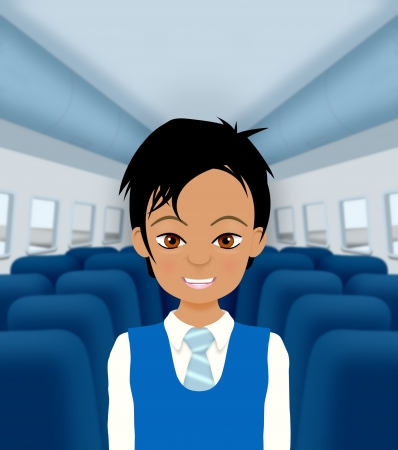 flight steward: Illustration of an Air Steward Stock Photo