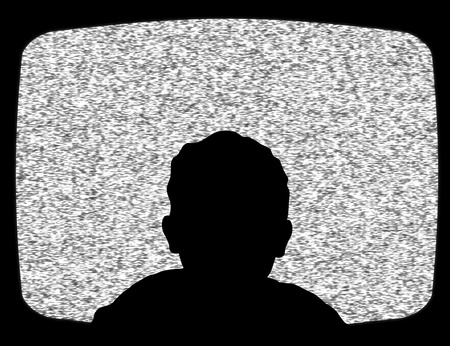 telly: Illustration of a child watching Television