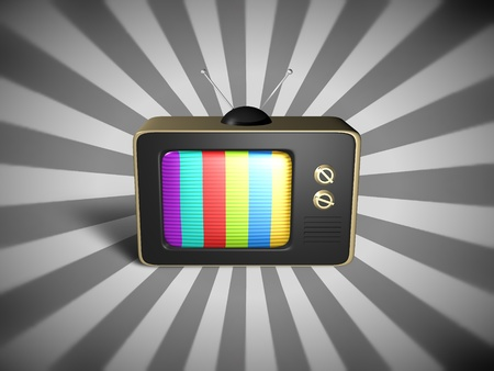 telly: Illustration of an old fashioned television