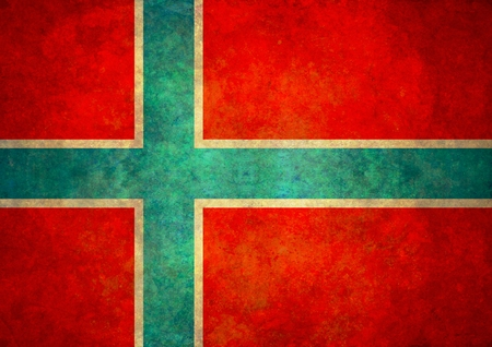 Illustrated flag of Norway with grunge effect photo