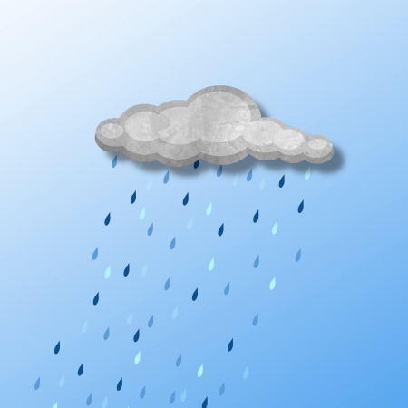 Illustration of a cloud with rain
