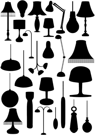 pulley: Illustration of many lighting objects
