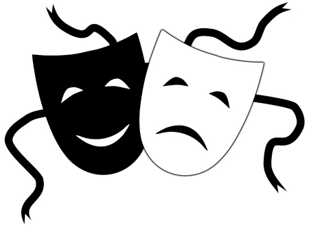 drama mask: Illustration of Theatrical masks