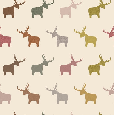 illustrated: Illustrated seamless background containing Deer