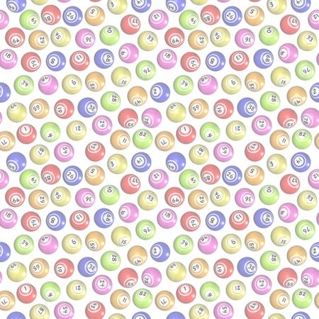 faint: Illustration of faint seamless bingo balls