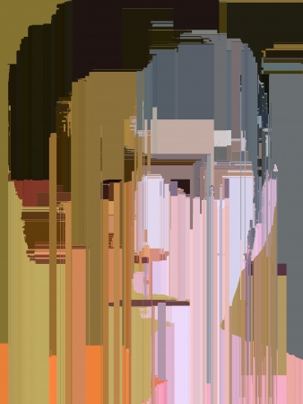 Illustration of a abstract pixelated face