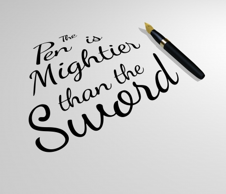than: Illustration of a famous quote with a pen