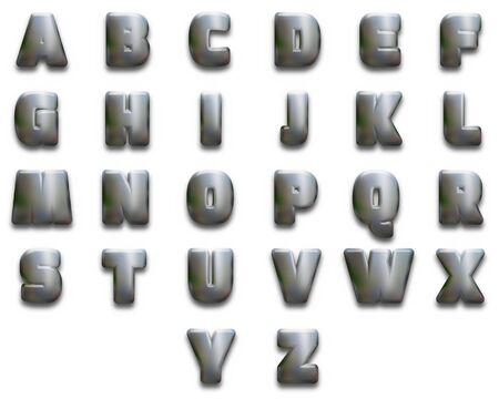 chunky: Illustration of chunky alphabet letters
