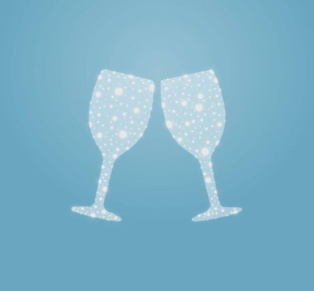 Illustration of two abstract wine glasses Stock Illustration - 25493151
