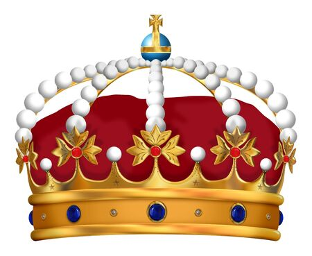 righteousness: Illustration of an isolated and detailed Royal Crown