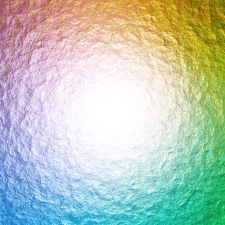 bumpy: Abstract Illustration of light coming from the middle of a colorful bumpy surface Stock Photo