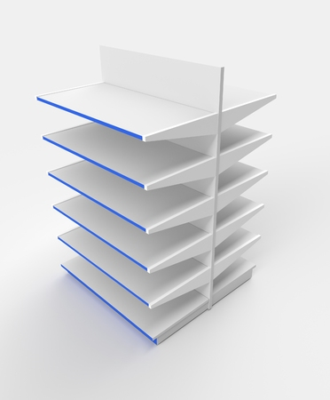 shelving: Illustration of isolated supermarket shelving Stock Photo